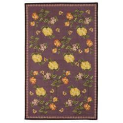 Safavieh Hand-hooked Chelsea Gardens Lilac Wool Rug (3'9 x 5'9)