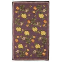 Safavieh Hand-hooked Chelsea Gardens Lilac Wool Rug - 3'9 x 5'9