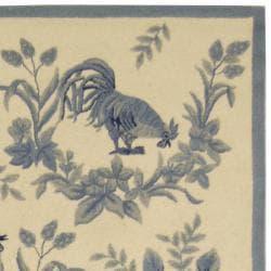 Safavieh Hand-hooked Chelsea Navy/ Gold Wool Rug (8'9 x 11'9)