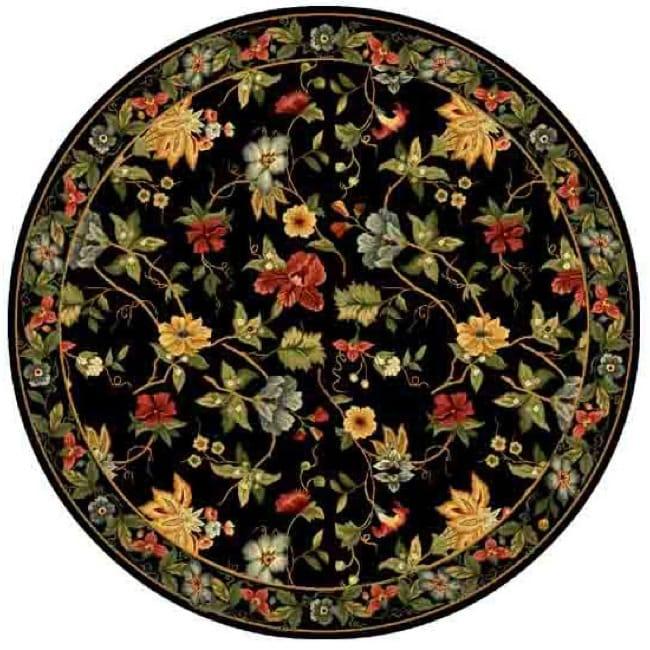 Safavieh Hand-hooked Chelsea Gardens Black Wool Rug (8' Round)