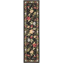Safavieh Hand-hooked Chelsea Gardens Black Wool Rug (2'6 x 6')