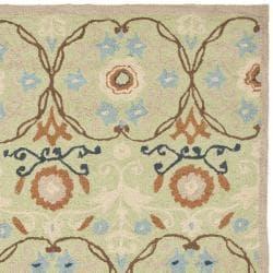 Safavieh Hand-hooked Chelsea Styles Sage Green Wool Rug (6' x 9')