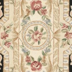 Safavieh Hand-hooked Aubusson Black Wool Rug (2'6 x 12')