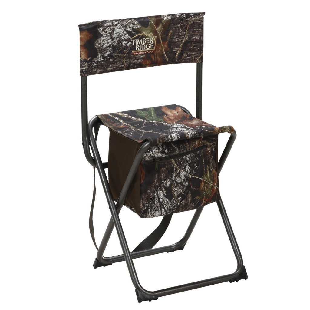 Timber Ridge by Texsport Mossy Oak Break-Up High Back Shooter's Stool