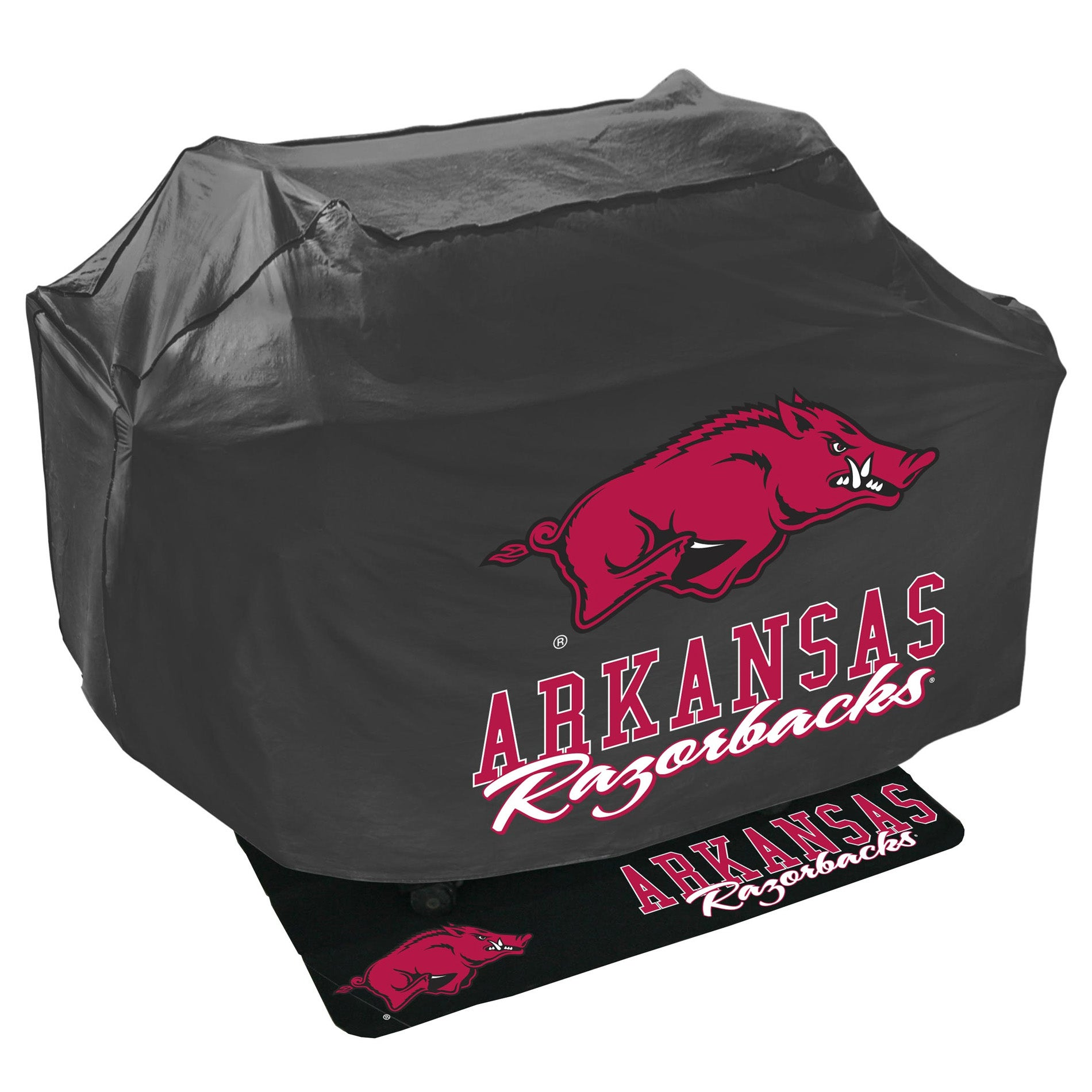 Arkansas Razorbacks Grill Cover and Mat Set