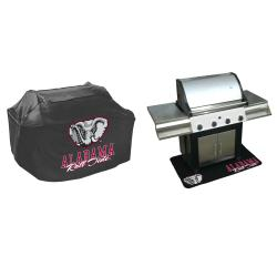 Alabama Crimson Tide Grill Cover and Mat Set - Thumbnail 1