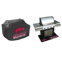 Arkansas Razorbacks Grill Cover and Mat Set - Thumbnail 1