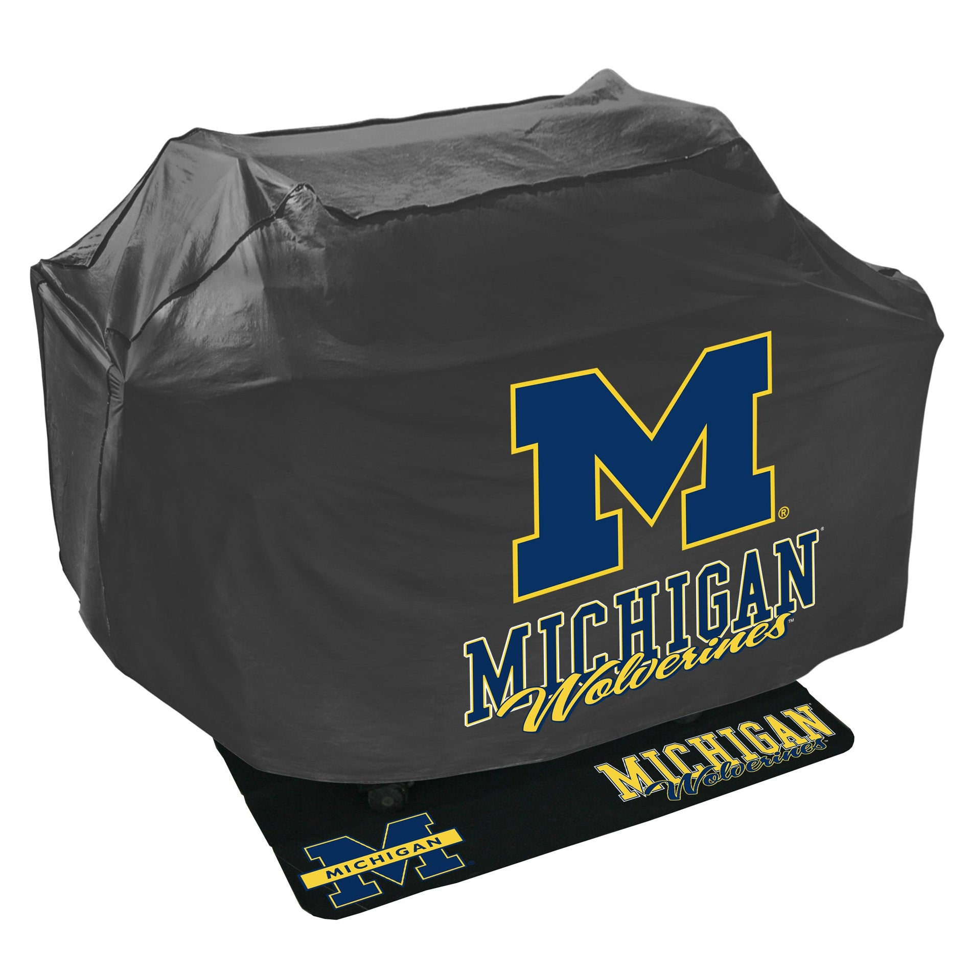 Michigan Wolverines Grill Cover and Mat Set