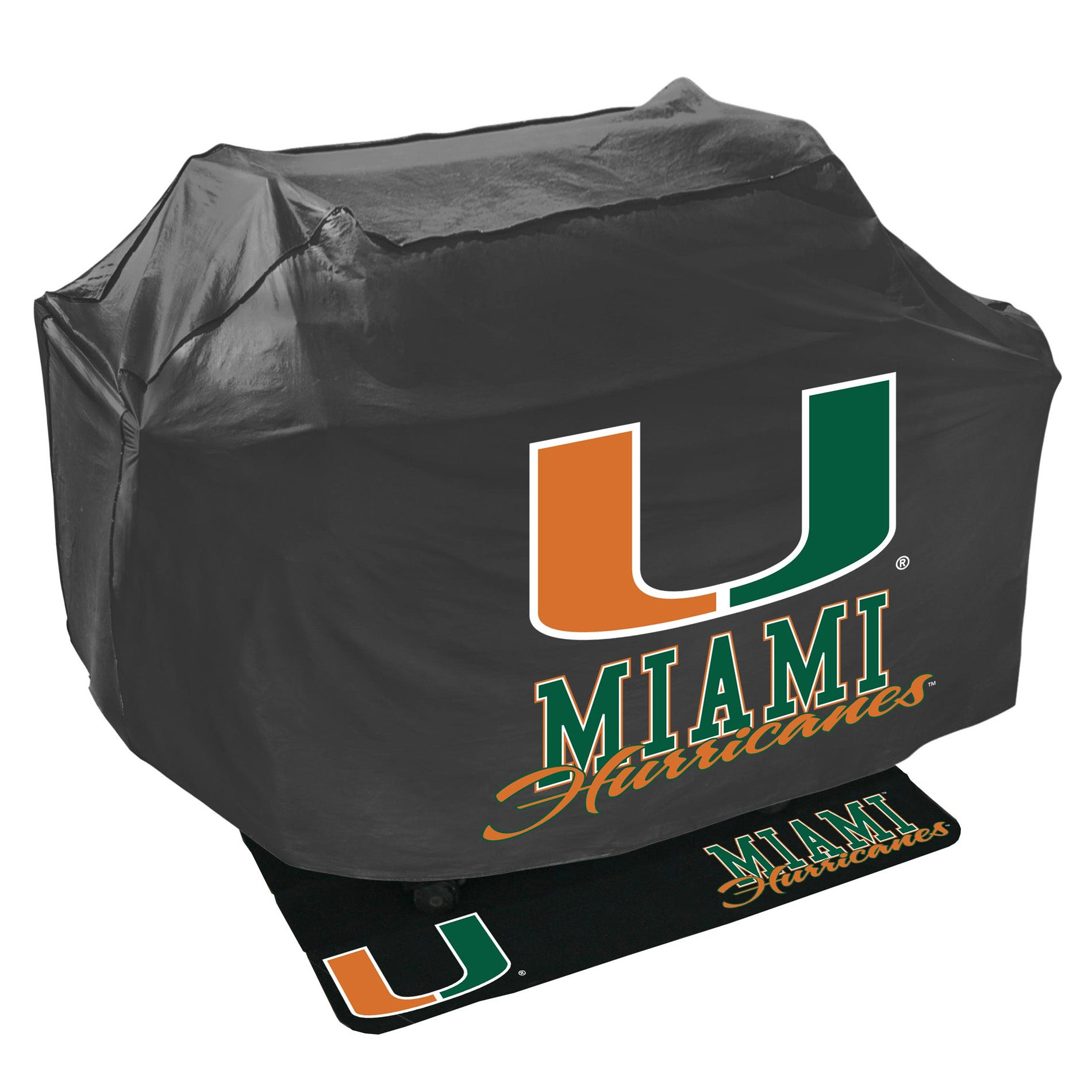 Miami Hurricanes Grill Cover and Mat Set