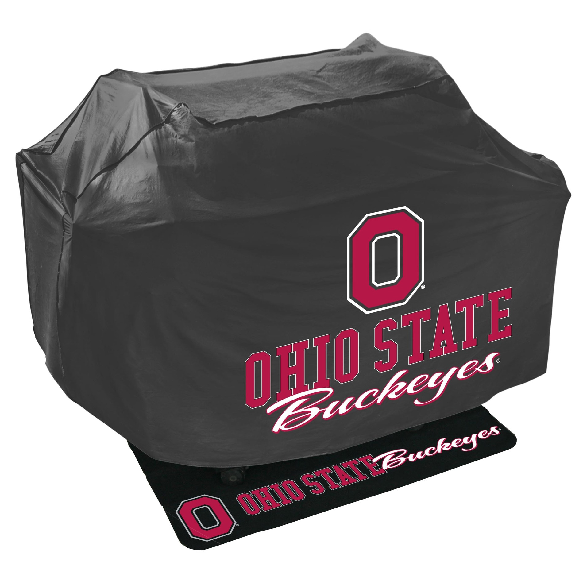 Ohio State Buckeyes Grill Cover and Mat Set