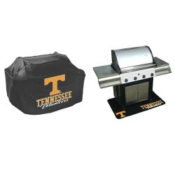 Tenessee Volunteers College-themed Grill Cover and Mat Protection Set - Thumbnail 1