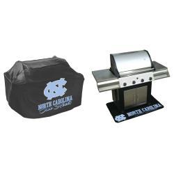 Mr. BBQ North Carolina Tar Heels Grill Cover and Mat Set - Thumbnail 1