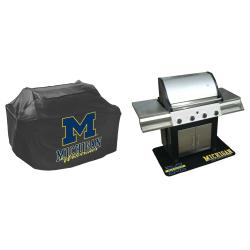 Michigan Wolverines Grill Cover and Mat Set - Thumbnail 1