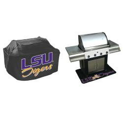 LSU Tigers Grill Cover and Mat Set - Thumbnail 1