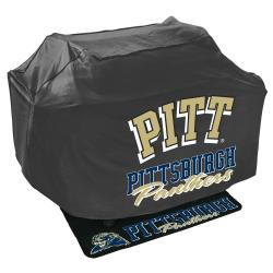 Black Pittsburgh Panthers College-themed Grill Cover and Mat Set - Thumbnail 0