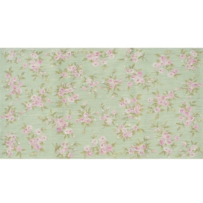Handmade Children's Bouquet Blossom Cotton Rug (4'7 x 7'7)