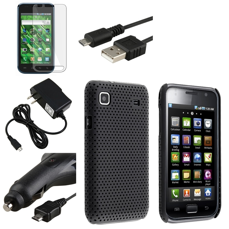 Black Case/ Protector/ Cable/ Chargers for Samsung Vibrant SGH-T959