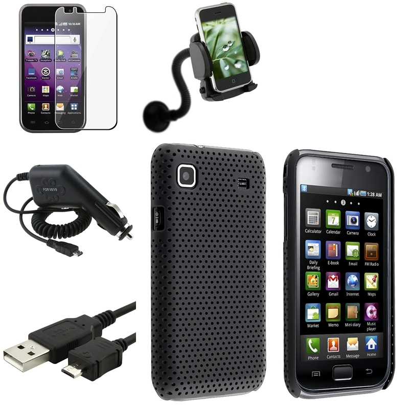 Black Case/ Charger/ Holder/ Protector for Samsung Galaxy S 4G T959v
