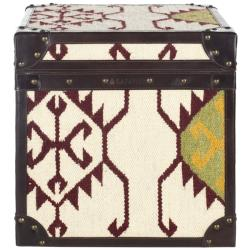 Safavieh Treasures Ivory Kilim Square Storage Trunk