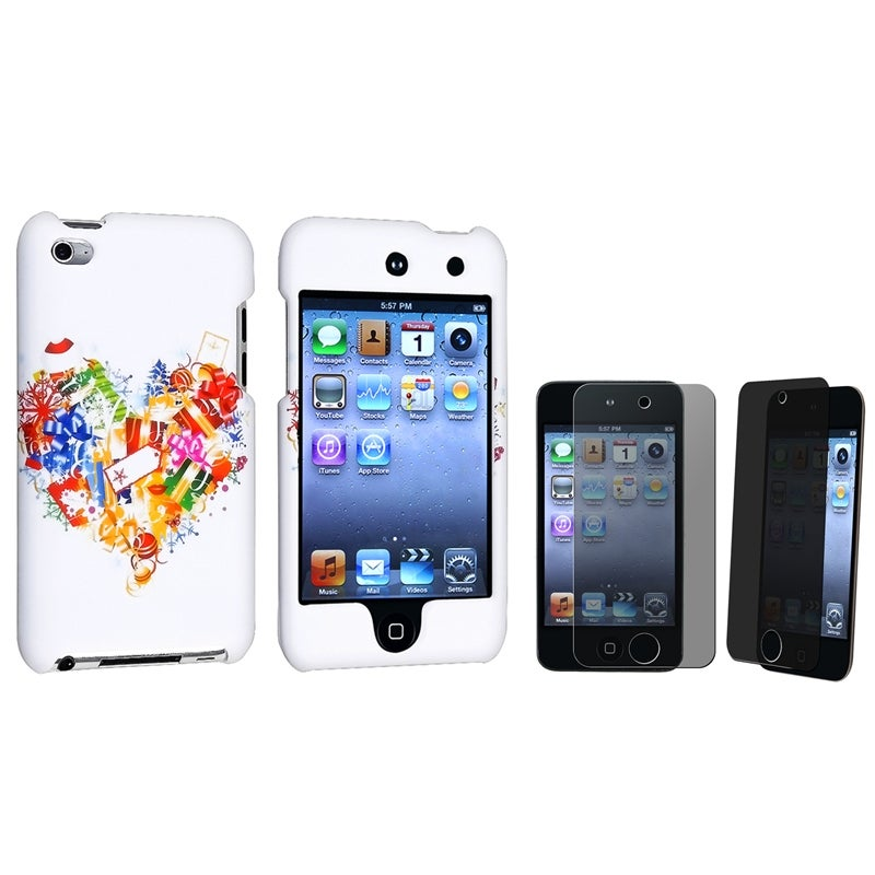 Rubber Case/ Privacy Filter for Apple® iPod Touch Generation 4
