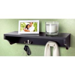 Sarah Peyton Wooden Shelf with Hangers - Thumbnail 1