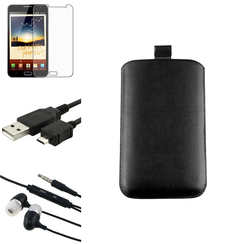 Pouch/ LCD Protector/ Cable/ Headset for Samsung Galaxy Note N7000
