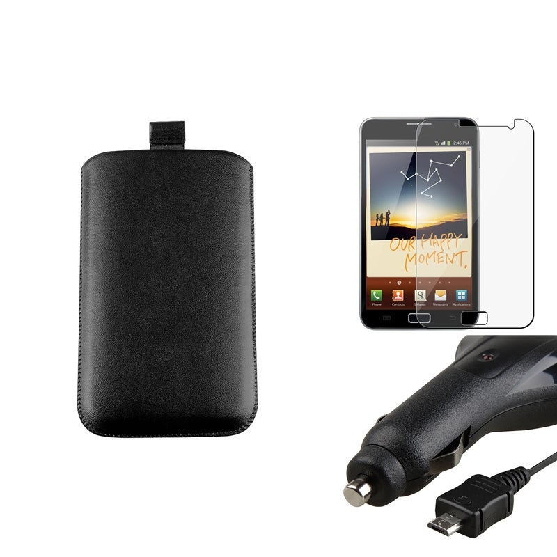 Pouch/ Retractable Car/ LCD Protector for Samsung Galaxy Note N7000