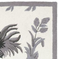 Safavieh Hand-hooked Hens Grey Wool Rug (2'6 x 10') - Thumbnail 1