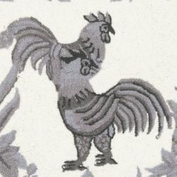 Safavieh Hand-hooked Hens Grey Wool Rug (2'6 x 10') - Thumbnail 2