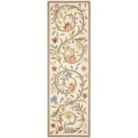 "Safavieh Hand-hooked Garden Scrolls Ivory Wool Rug - 2'6"" x 6'"