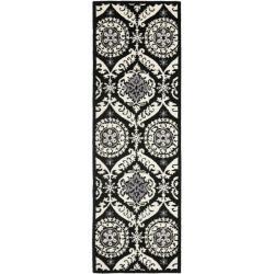 Safavieh Hand-hooked Chelsea Heritage Black Wool Rug (2'6 x 12')