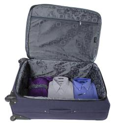Jourdan Hassle Free Lightweight 3-piece Navy Expandable Spinner Luggage Set