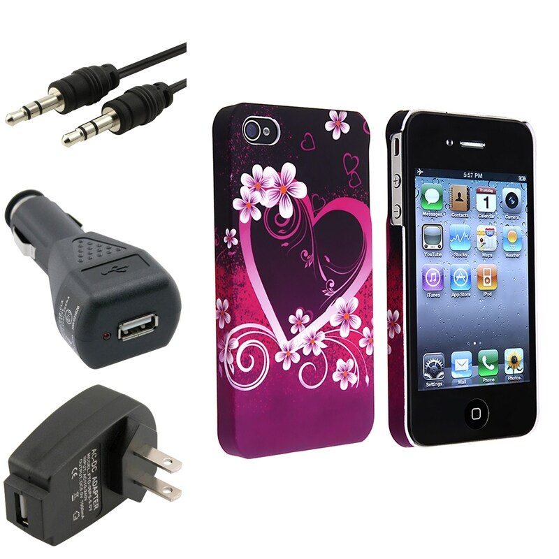 Case/ Travel Charger/ Car Charger/ Cable for Apple iPhone 4/ 4S