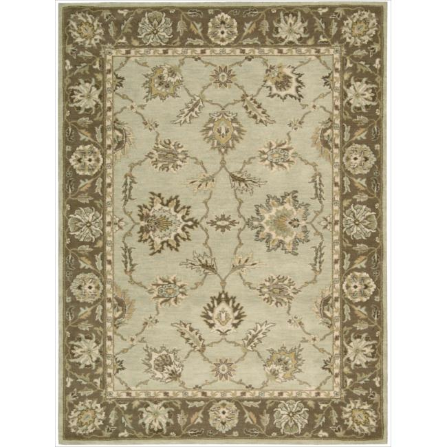 Nourison Alexandria Light Green Rug (5'6 x 7'5)