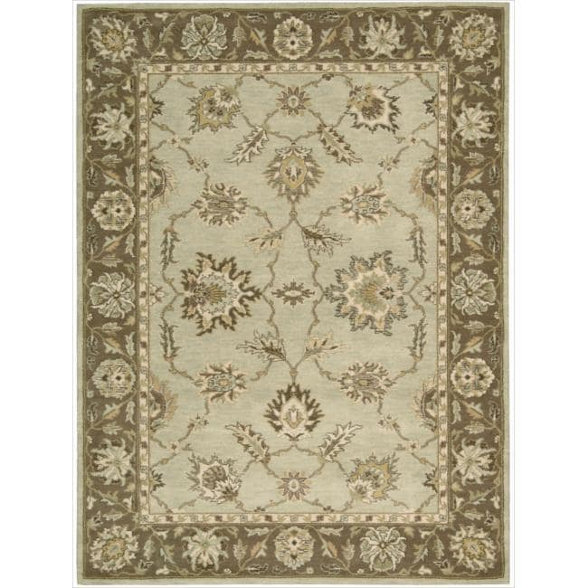 Nourison Alexandria Light Green Rug (5'6 x 7'5) - Thumbnail 0