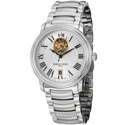 Frederique Constant Men's 'Heart Beat' Stainless Steel Automatic Watch