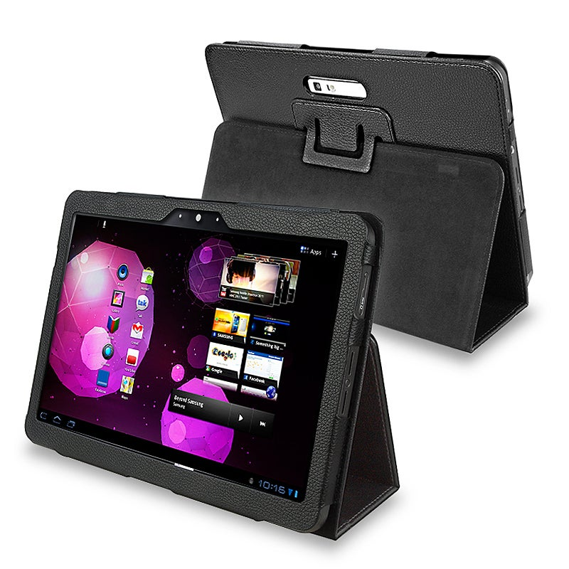 BasAcc Black Leather Case for Samsung Galaxy Tab P7100 10.1v