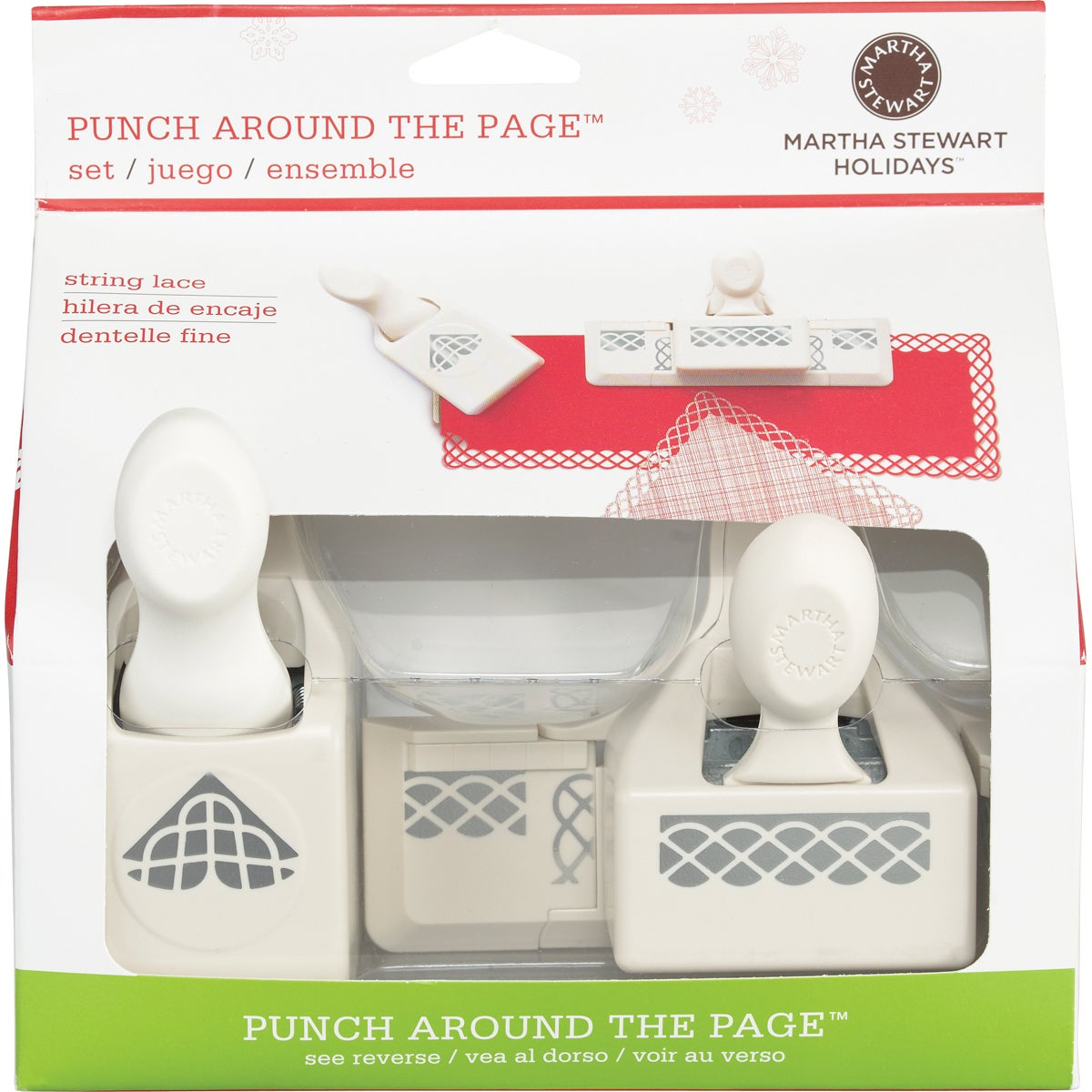 Martha Stewart Punch Around The Page Combo-String Lace
