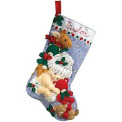 Shop Baby's First Christmas Stocking Felt Applique Kit-18 ...