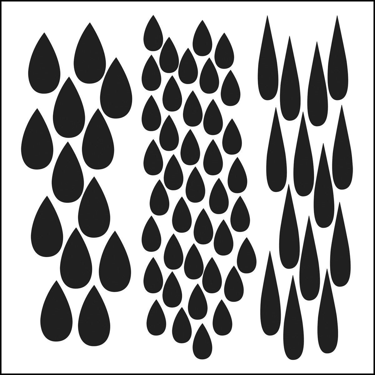 Crafter's Workshop Templates 12X12-Rain