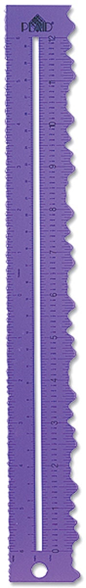 "Paper Tearing Aluminum Rulers 12""-Deckle Edge"