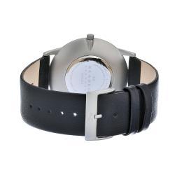 Skagen Men's Matte Steel Black Dial and Strap Watch