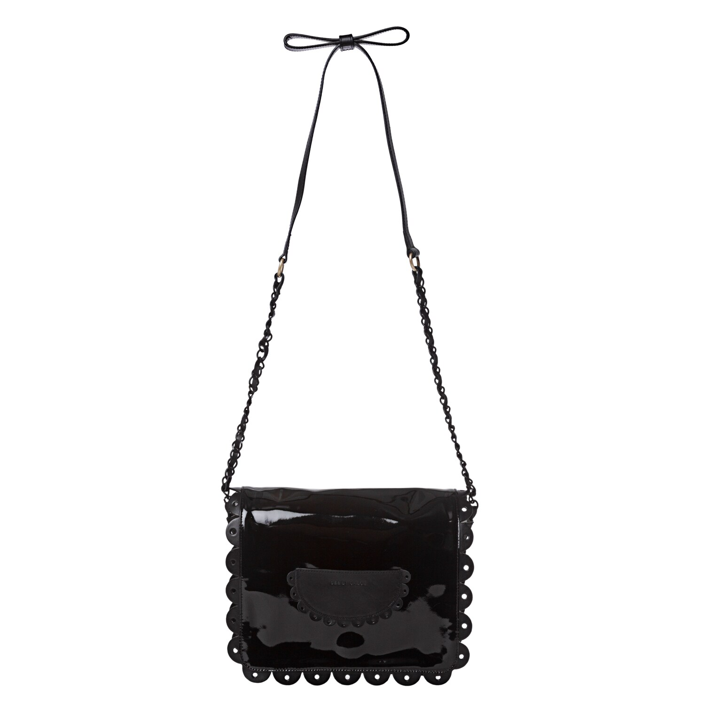 See by Chloe 'Poya' Black Patent Leather Crossbody Bag