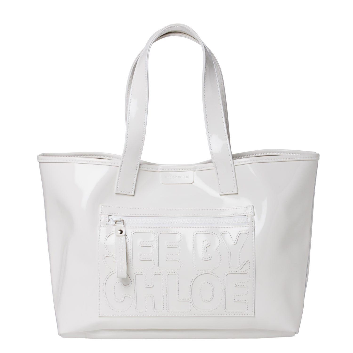 See by Chloe White PVC Tote Bag