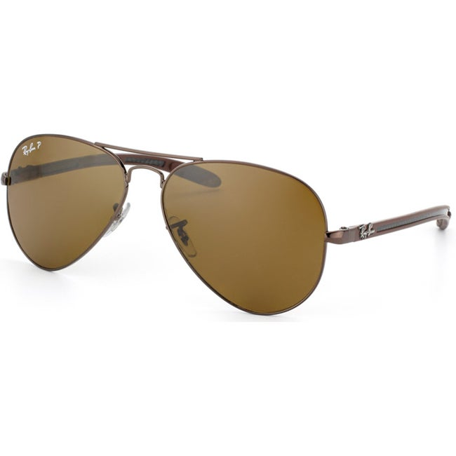 Ray-Ban Unisex RB 8307 Brown Carbon Fiber Aviator Sunglasses