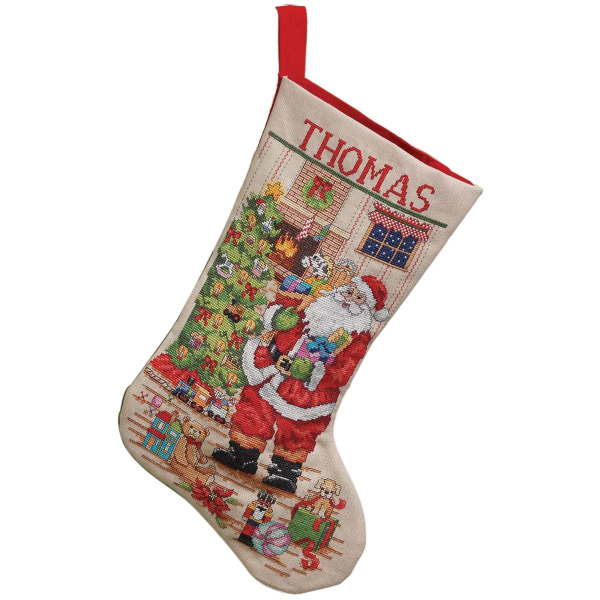 Stamped Cross Stitch Christmas Stocking Kits
