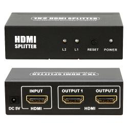 BasAcc HDMI Amplifier 1 X 2 Male to Female Splitter Version 2