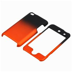 Black to Orange Rubber Coated Case for Apple iPod Touch Generation 4 - Thumbnail 1