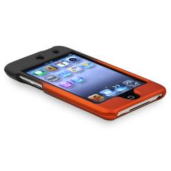 Black to Orange Rubber Coated Case for Apple iPod Touch Generation 4 - Thumbnail 2