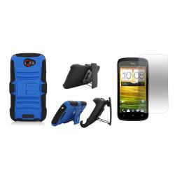T-Mobile HTC One S / Ville Rubberized Case with Kickstand Belt Clip and Screen Guard